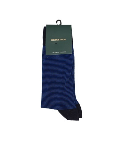 George Hogg George Hogg Çizgili Erkek Çorap Lacivert